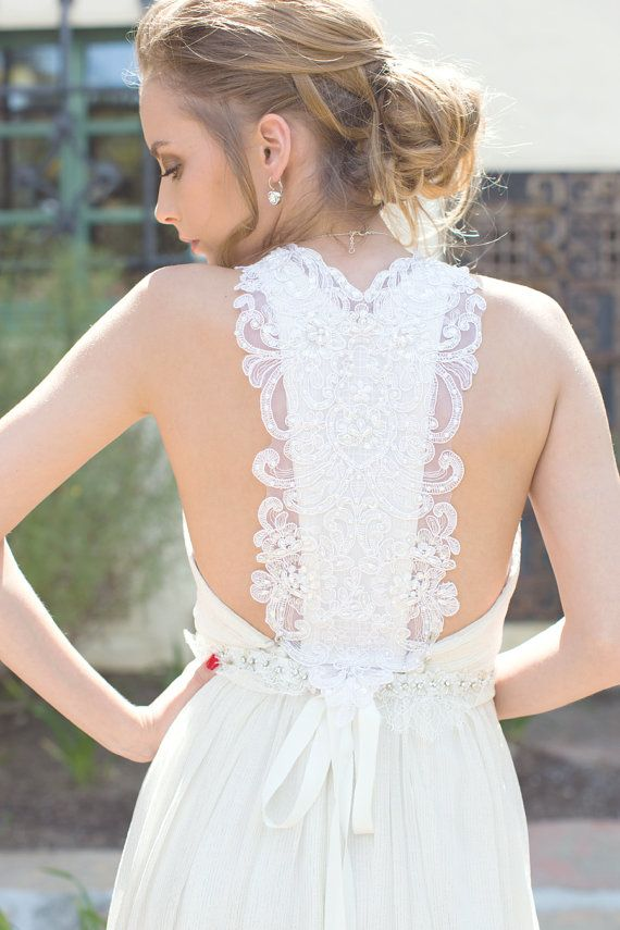 White bridal dress beach wedding dress bridal by JuLeeCollections