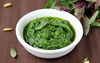 Pesto pasta sauce recipe suitable for babies from 8 months, add garlic or melt in soft cheese for a milder flavour
