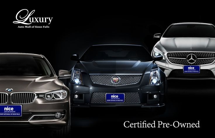 Certified Pre-Owned vehicles from BMW, Cadillac and Mercedes-Benz