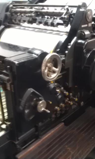 Original Heidelberg en funcionamiento! Tecnología de principios del siglo XIX