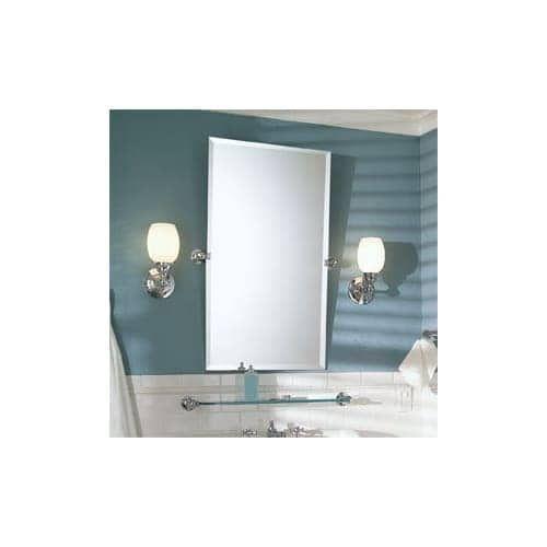 """Ginger 0142N City 212 36"""" x 20"""" Rectangular Beveled Frameless Mirror (Polished chrome)"""