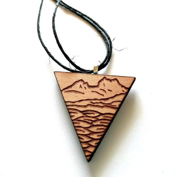 Cradle Mountain Triangle Necklace unisex for guys and girls