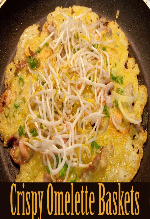 Crispy Omelette Baskets - Jeyrecipe
