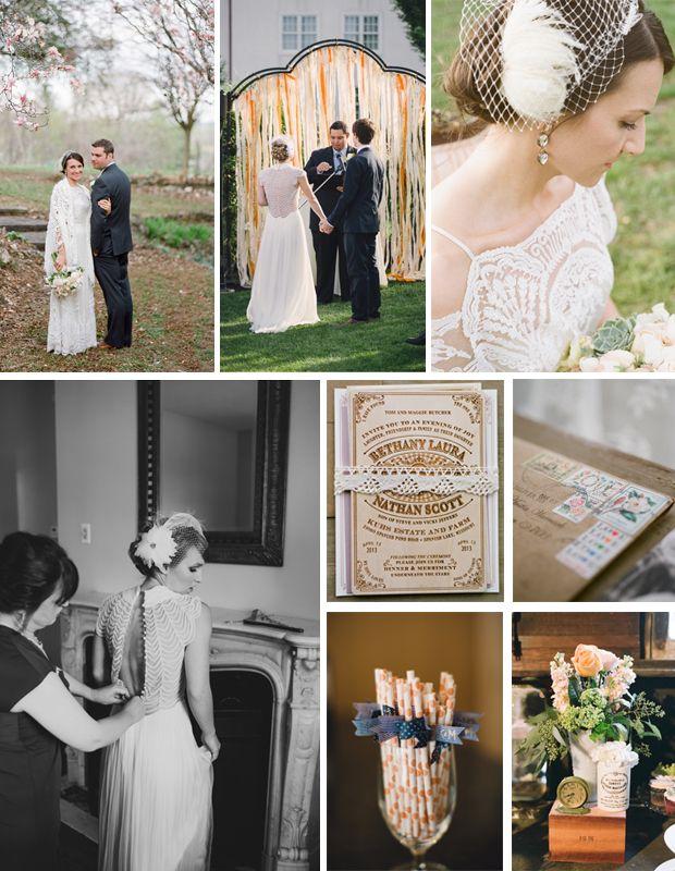 Bridal Inspiration: Modern Vintage   #CatherineDeane #realweddings #weddingideas