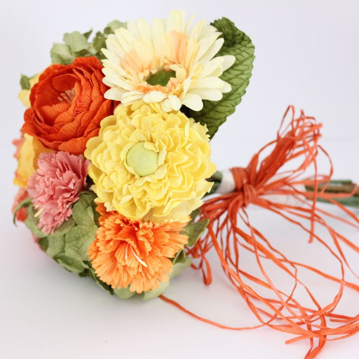 Mixed Paper Flower Bouquet- Bright and Sunny – Paper Flowers Australia