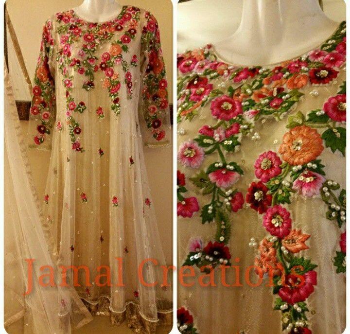 Floral net colorful