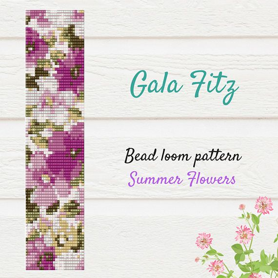 Summer flowers bead loom pattern will be the great idea to make some festive bracelet for you or as a gift. The item is a PATTERN in PDF format. The file will be directly downloadable through Etsy. You will see a Ready to download button on their Purchases and Receipt page, after payment