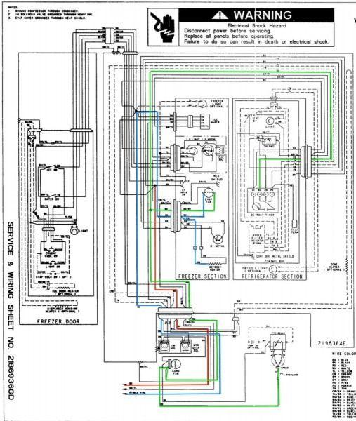 Whirlpool Refrigerator Wiring Schematic - Machine Repair Manual on