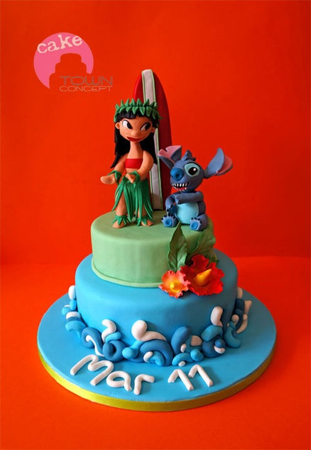 Disney Cake Decorating Book : The 28 best images about LILO & Stitch Cakes on Pinterest ...
