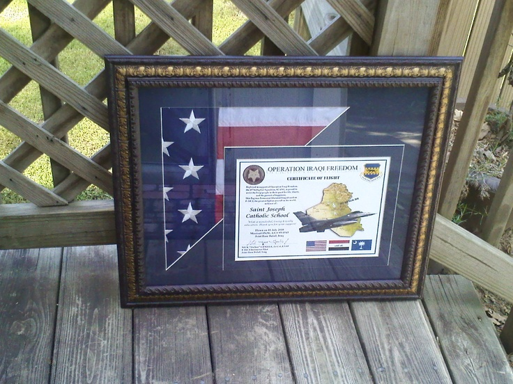 Flag Shadow Box Example Picture Framing Pinterest