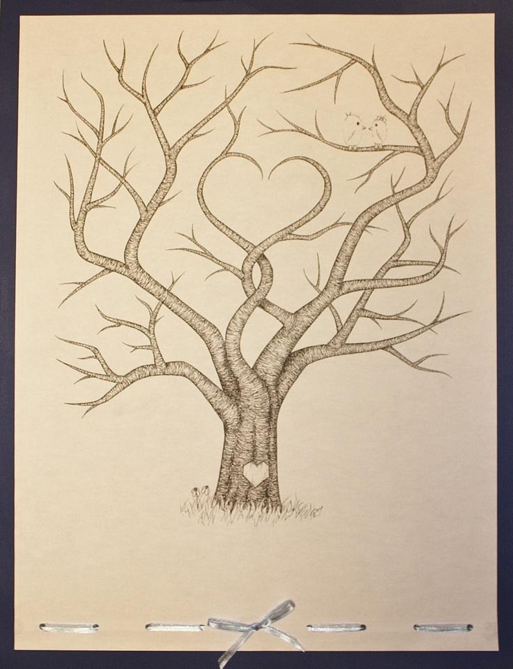 Wedding Guestbook Fingerprint Tree.