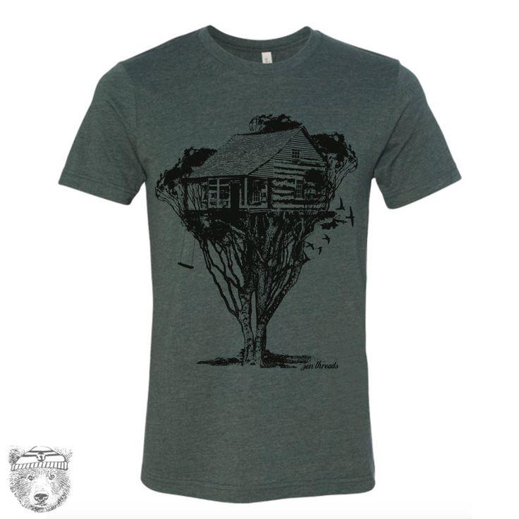 Mens TREEHOUSE Cabin t shirt s m l xl xxl (+ Color Options)