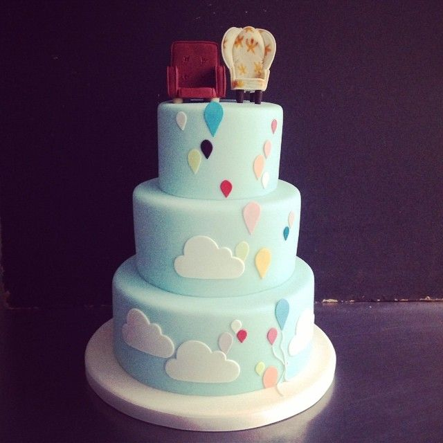 UP! wedding cake