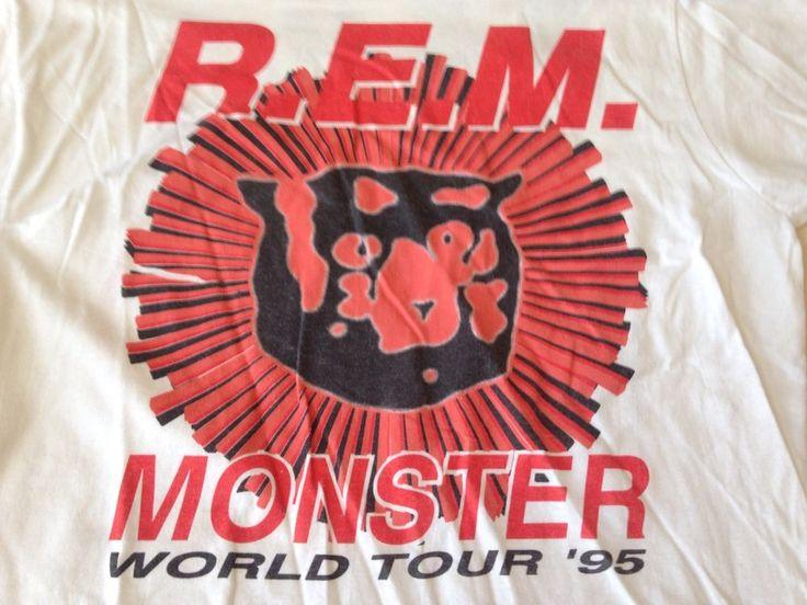 True Vintage REM Monster World Tour 1995 Concert T Shirt XL RARE DESIGN #GraphicTee
