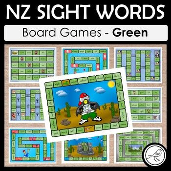 NZ sight words - Green - BOARD GAMES A set of 10 colourful and engaging board games for your students to practise their sight words at the Green level. Sight words are read when the player lands in that square. Some games have an endpoint (where players reach the 'finish') and some games are ongoing until the allocated time is up, or