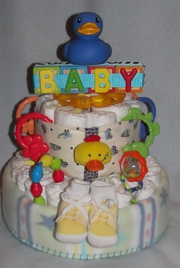 209 best images about baby shower ideas on pinterest for Baby diaper cake decoration