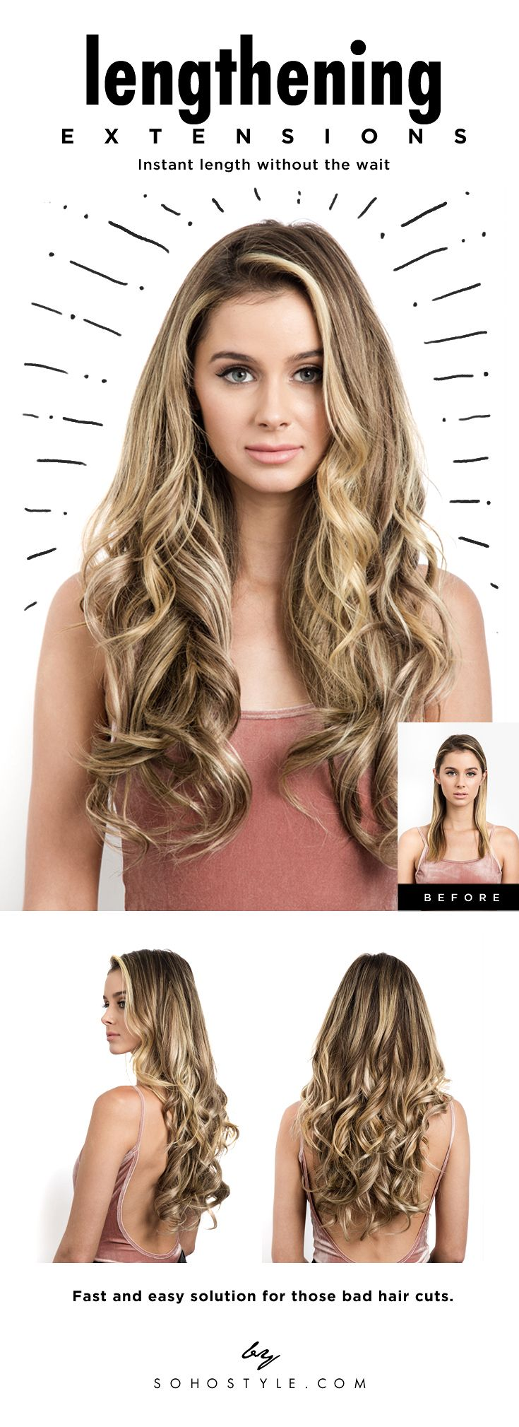 36 best soho hair extensions images on pinterest soho hair achieve the length youve always wanted check out our remy human hair lengthening extensions today pmusecretfo Images