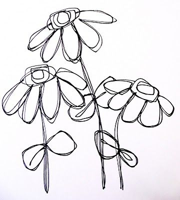 loads of lovely flower doodles  Art by Erin Leigh: Doodles continued...