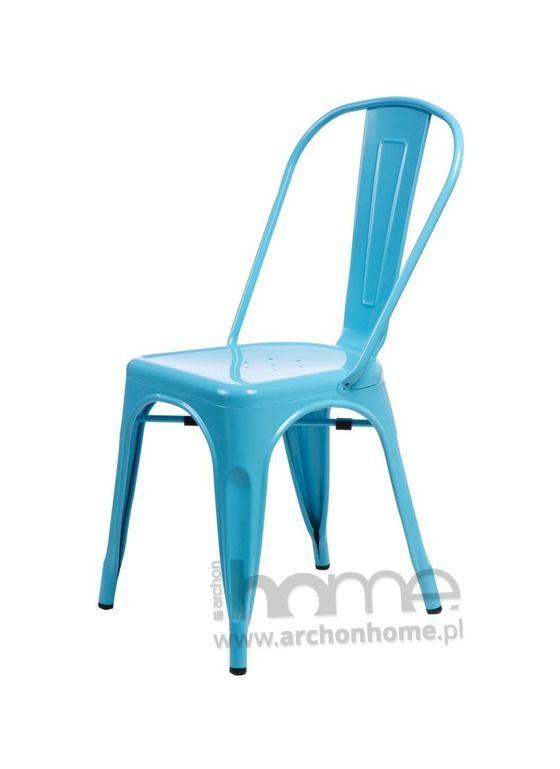 Krzesło Paris niebieskie - inspirowany Tolix, archonhome.pl