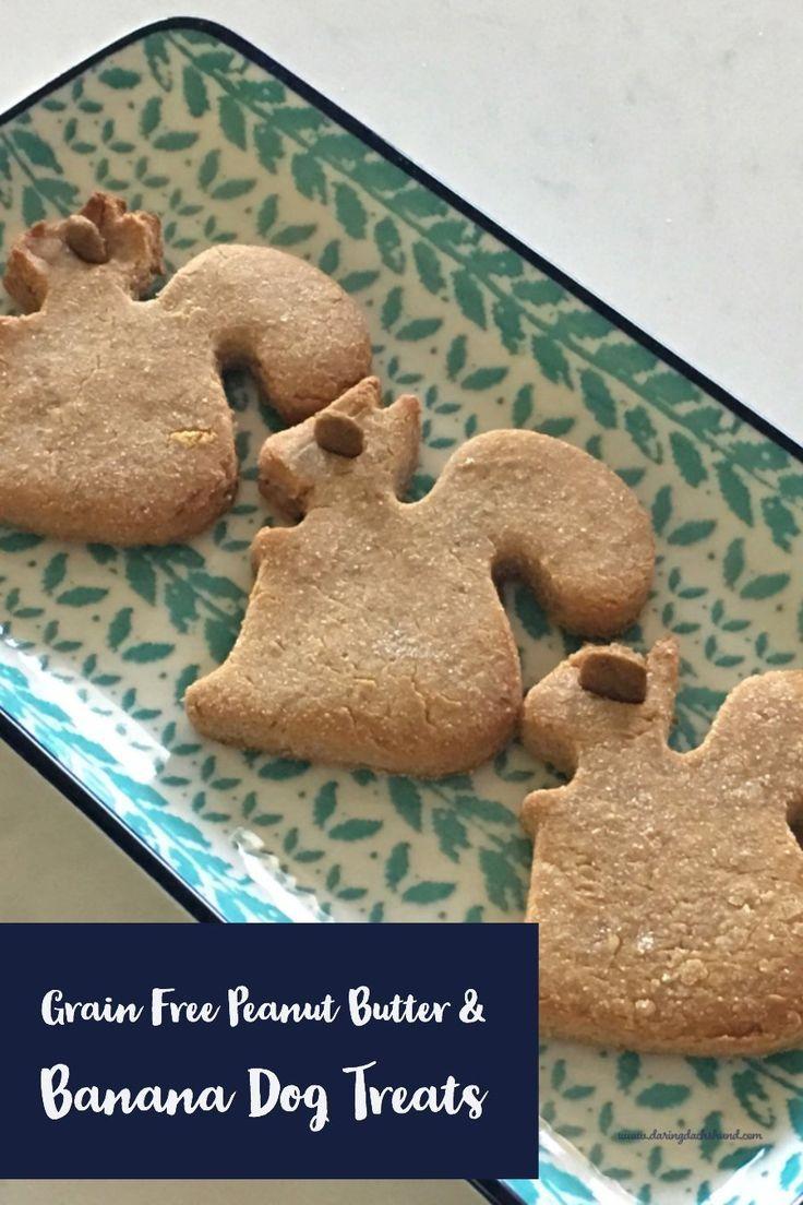 Grain Free Banana And Peanut Butter Dog Treats Peanut Butter Dog