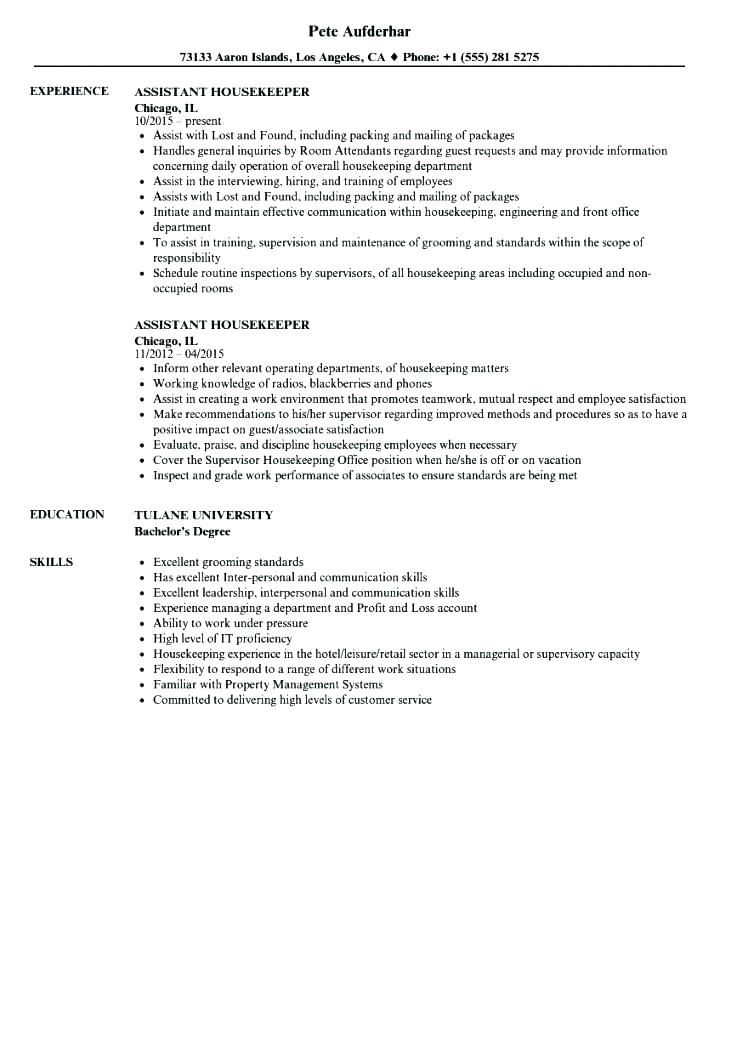 resume examples housekeeping entry level housekeeper cover letter ...