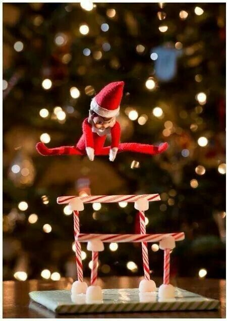Can change this and have our elf doing gymnastics and swinging on the uneven bars instead!