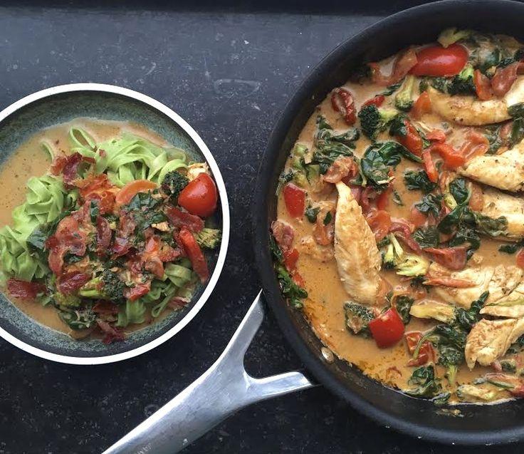 Pastaret med kylling, soltørret tomat og masser af hvidløg | Julie Bruun | Bloglovin'