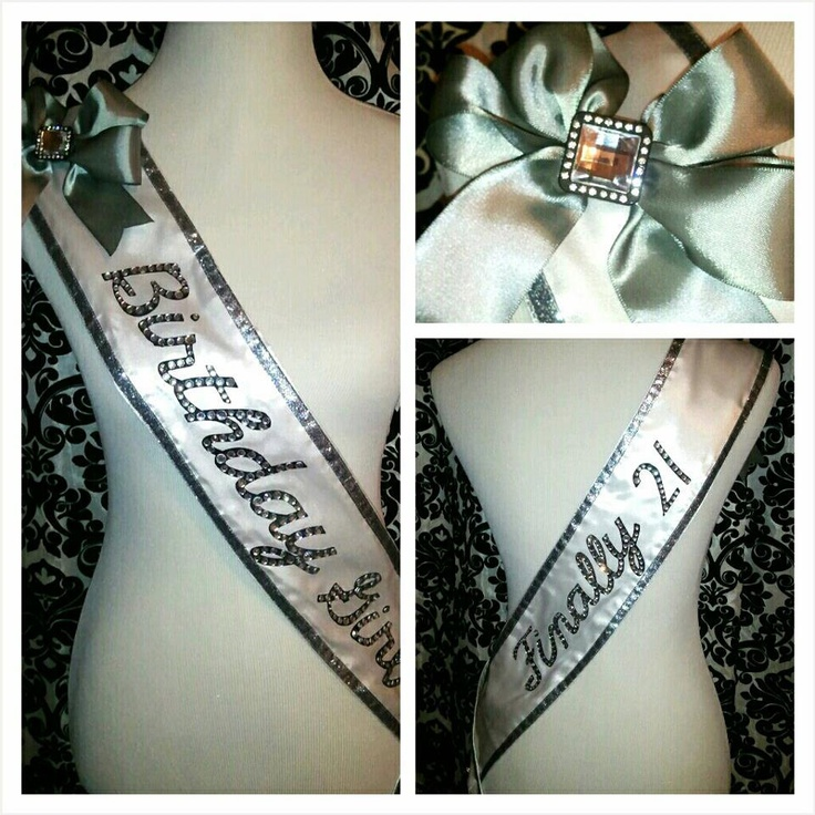 21st Birthday Sash - Doing this but in pink and says I'm 18!