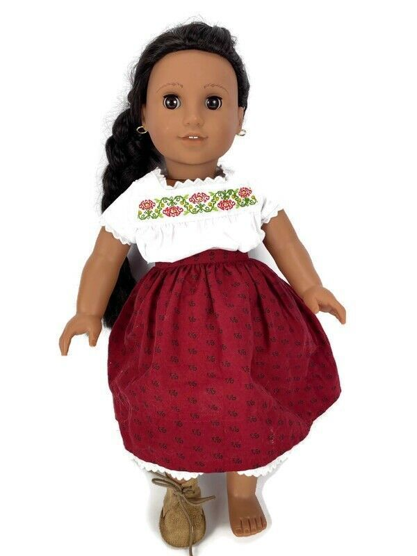 American Girl Doll Josefina Dark Brown Hair And Eyes Earrings