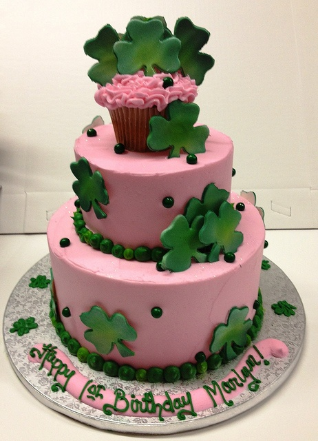 Shamrock tiered cake by megkin, via Flickr