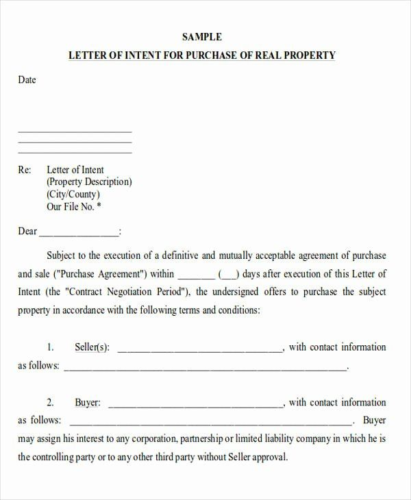 Letter Of Intent Template Real Estate Forms Letter Of Intent Letter Example Intentions