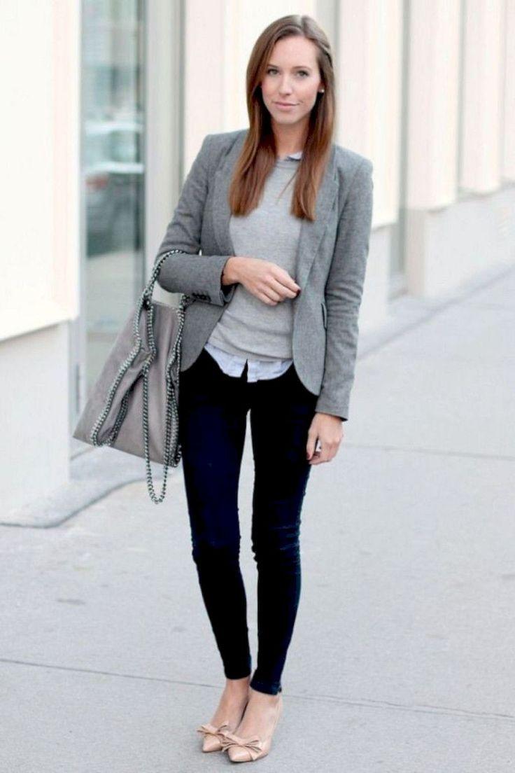 76 Best Workrobe Images On Pinterest Dress Fashion Feminine Flash  Blazer Denim Pakaian Wanita Navy L 01 Trendy Business Casual Work Outfit For Women