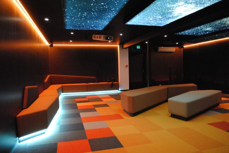 Custom theatre for #CosmosCentre. Design, AV, fabrication and install by #FocusProductionsPtyLtd. Featuring backlit graphics,custom lighting, thematic seating and flooring, custom AV hardware and programming solutions.