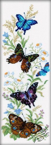Flying Butterflies - Cross Stitch Kits by RTO - M147 #butterfly_crafts_cross_stitch