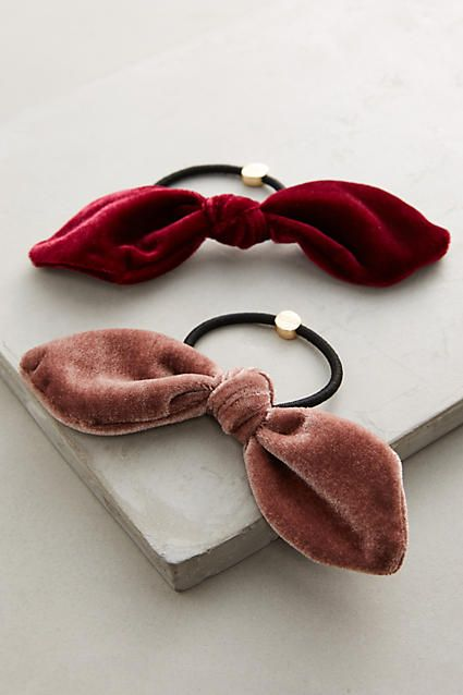Velvet Bow Hair Tie Set                                                                                                                                                                                 More