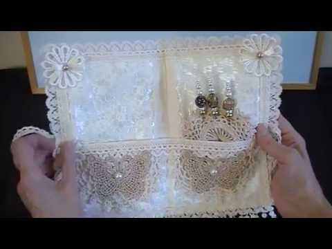 A fabric needle book that I have made as a gift for Patrizia - YouTube