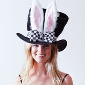 White Rabbit Ears Top Hat