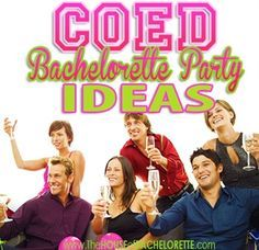 """Celebrate """"mustaches"""" and """"lips"""" with a COED bachelor/bachelorette party! There are tons of ideas here."""