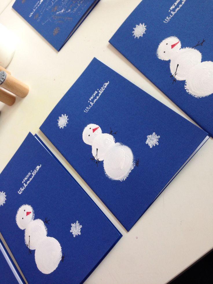 Selbstgestaltete Weihnachtskarten. Von Schneiderlein.