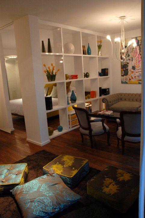 Dividir con muebles huecos ideas para departamentos for Studio design muebles