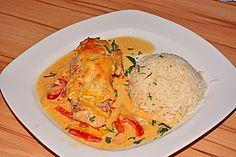 Paprika-Sahne-Hähnchen (Rezept mit Bild) von Sister   Chefkoch.de