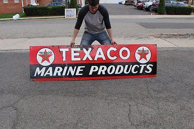 Original-1937-Texaco-Marine-Products-Porcelain-Gas-Oil-Sign