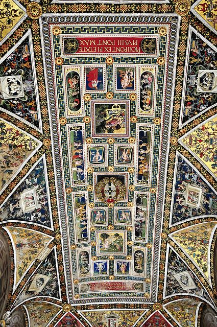 The ceiling of the Piccolomini Library in Siena Cathedral. Italy  http://sunnydaypublishing.com/books/