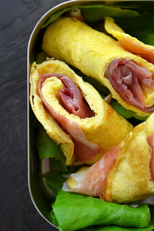 Egg & Prosciutto Roll-Ups. Another Week of Paleo Lunches! (Part 2 of 5) by Michelle Tam http://nomnompaleo.com