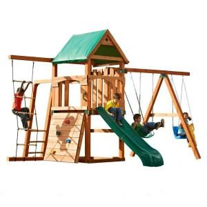 Timber-Bilt Playsets Bighorn Play Set with Summit Slide, Add 4x4's-PB 9242S at The Home Depot