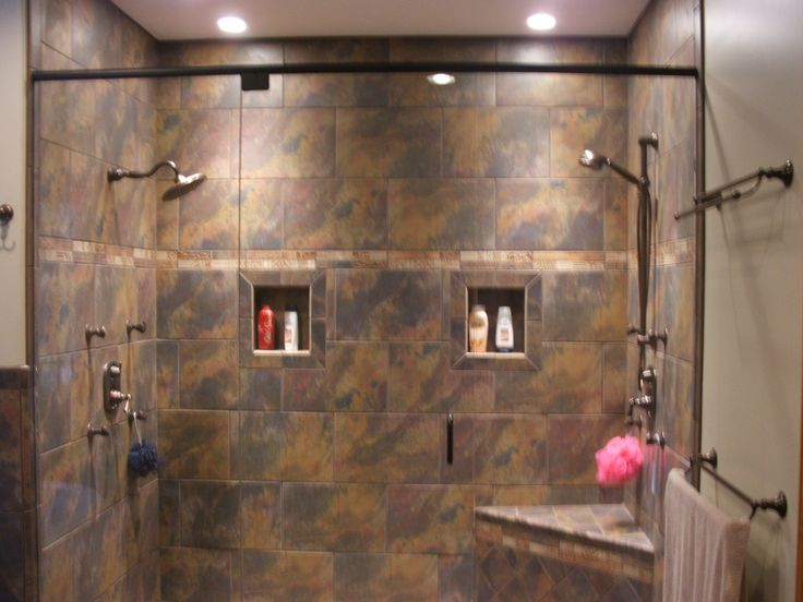 52 best images about walk in showers on pinterest for Bathroom designs with walk in showers
