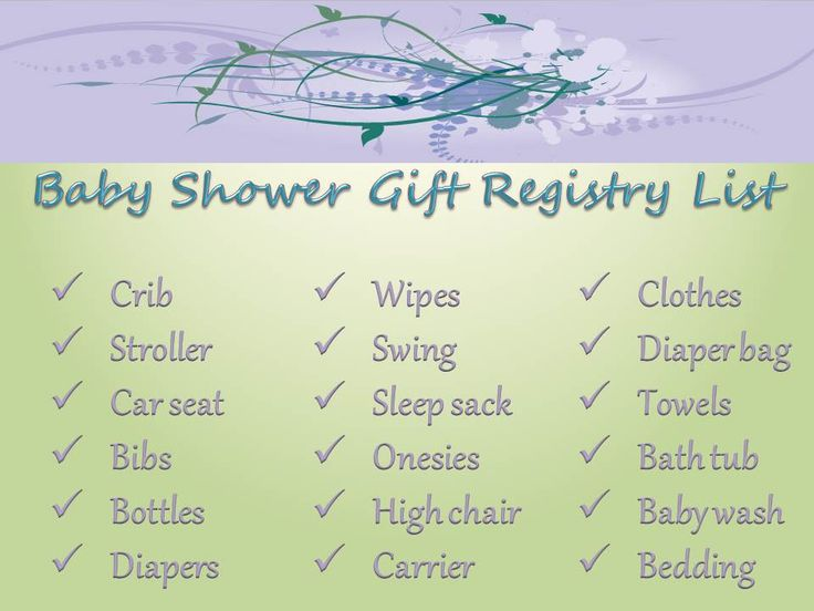 Baby Shower Gift Registry Tips (Article)