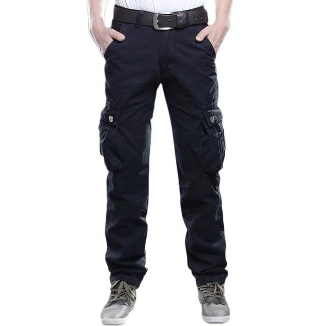 Men S Cargo Casual Pant Regular Trousers Male Combat Military