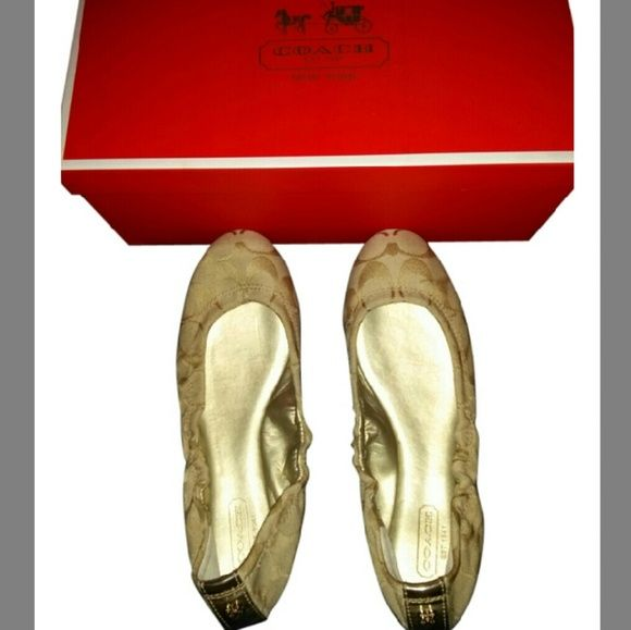 Coach Up for sale is my Coach flats. Used but in good condition as seen in pictures. Price is slighty negotiable. I can provide more pictures if asked. Comes with box. Final sale. Thanks! Coach Shoes Flats & Loafers