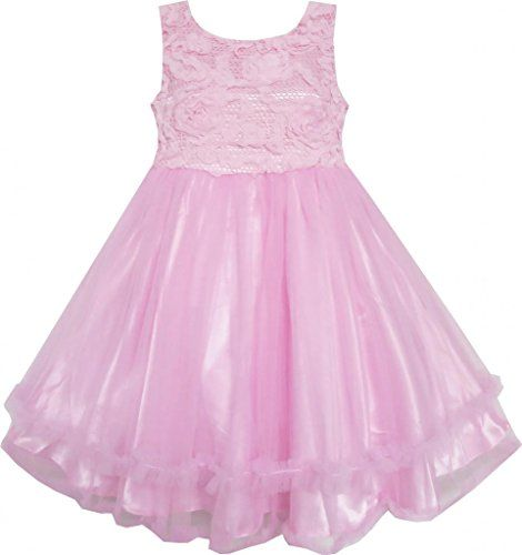 FB54 Sunny Fashion Big Girls' Dress Pink Tulle Layers Embroidered Lace Pageant 8 Sunny Fashion http://www.amazon.com/dp/B00MDPZTF6/ref=cm_sw_r_pi_dp_8Bmrub0T50C2J